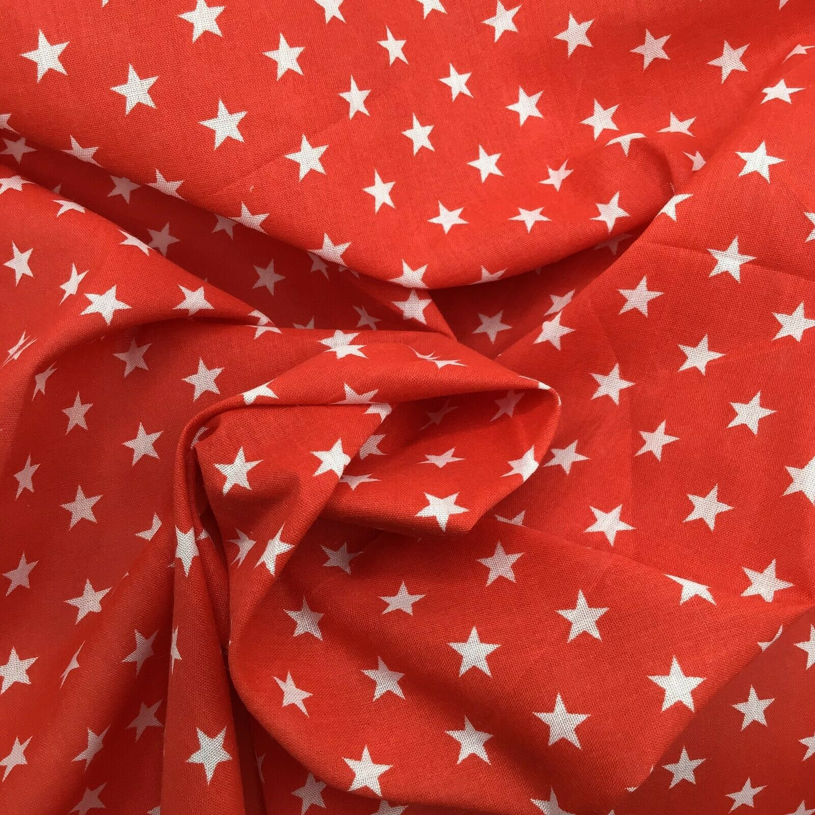 red star polka dot dressmaking craft wholesale fabric